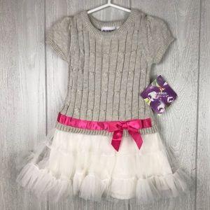 Blueberi Blvd knit short sleeve ruffle dress